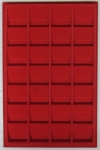 Red Vertical 2x2 Tray, 28 Coin