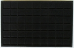 Black 54 Coin Horizontal Tray