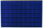 Blue 54 Coin Horizontal Tray..