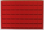 Red 54 Coin Horizontal Tray