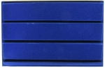 Blue 3 Row Horizontal Slab Tray