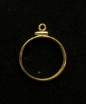 Gold Filled $5 Indian Gold Coin Mount  Net