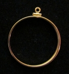 Gold Filled $20 Gold Coin Mount  Net