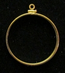 Gold filled  1 oz Mexican Coin Mount  Net