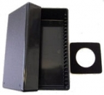 Black Acrylic 20 Card Storage Box for 100 series Display cards Airtite