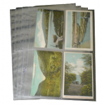 4 Pocket Post Card Vinyl Page Top Load, Supersafe